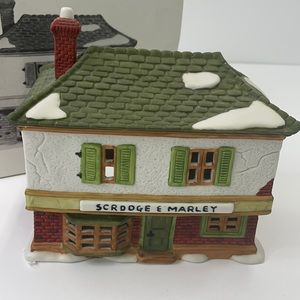 """Department 56 """"Scrooge and Marley counting house"""""""